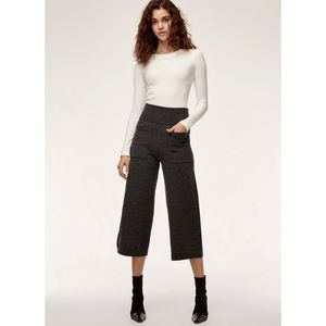 WILFRED | Brion Merino Wool Wide Leg Culottes Pant